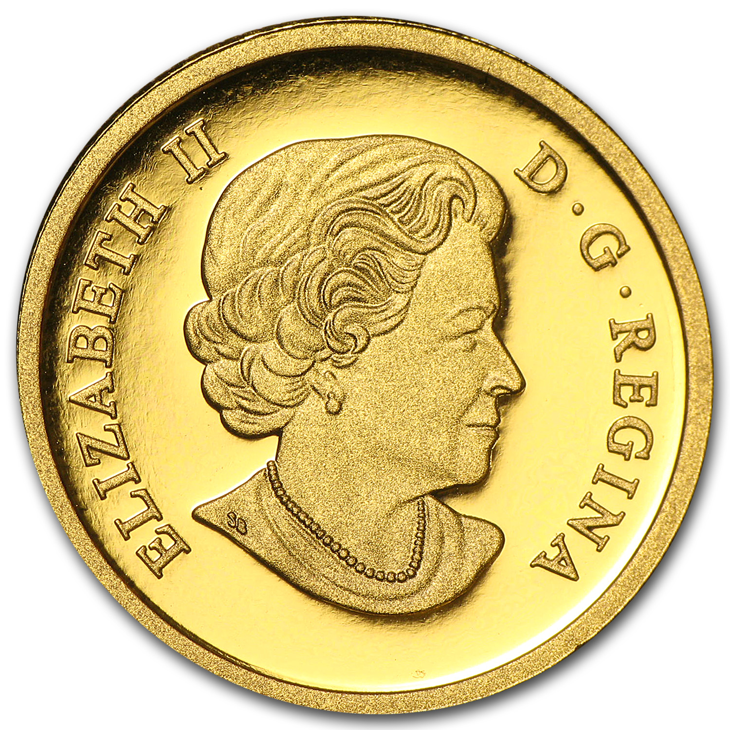 2013 1/4 oz Gold Canadian $25 Coin - An Allegory